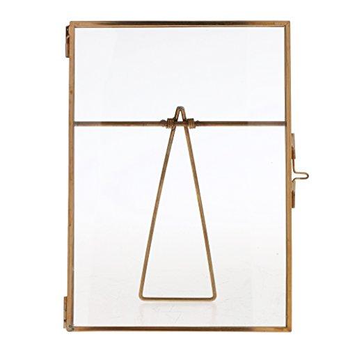 Sharplace Retro Metall Rahmen Bilderrahmen Bildergalerie Fotogalerie Tisch Fotorahmen für Bilder, Kunstdrucke - Gold, 15 x 20 cm