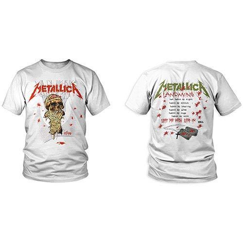Metallica One Landmine_Men_Wht_TS: L Camiseta, Negro Black, Large...