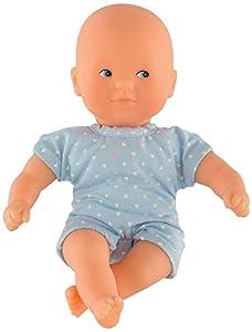 Corolle- Muñeco bebé Mini Calin 20cm con Pelele Corto Celeste, Color Azul Claro (9000120020)