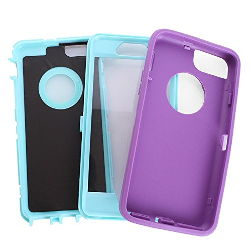 Wkae Case & Cover Plastique coloré + TPU combiné pour iPhone 6 ( : Black ) Purple