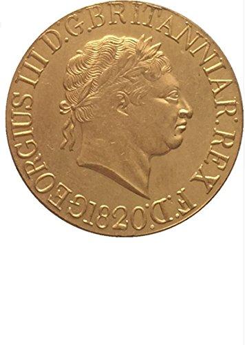 Bespoke Souvenirs Rare Antique European England UK 1820 1 Sovereign - George III King Coin Seltene Münze -