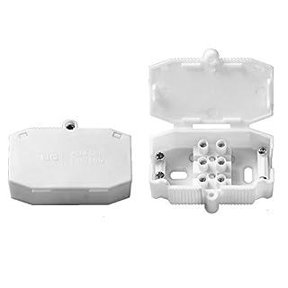 BG Electrical 403-BG 3A Lighting Connector Box, White