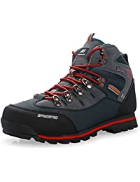 Botas de montaña para hombre Cima mas alta Trekking Zapatos al aire libre Antideslizante Respirable Impermeable Para caminar Alpinismo Zapato Por Gomnear