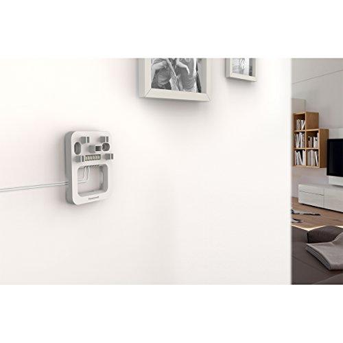 Honeywell Home Funk-Gong mit Reichweitenverstärker und Verdrahtungsmodul, Lichtring und LED-Blitzlicht, weiß, DW915S