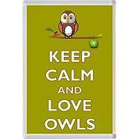 Keep Calm and Love Owls - Novelty Jumbo Fridge Magnet Gift/Souvenir/Present