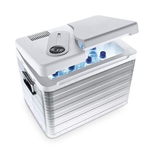 Mobicool Q40 AC/DC - Nevera termoeléctrica portátil, conexiones 12 / 230 V, 39 litros de capacidad, color aluminio
