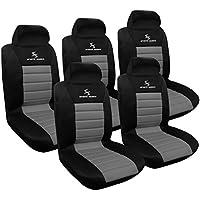 WOLTU AS7255-5 5er Sitzbezüge für Auto Einzelsitzbezug vordere Schonbezüge Sitzbezug Schoner, Komplettset, grau