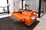 Design Leder 2 Sitzer Parma mit Opt. Bettfunktion