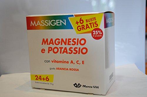 Massigen Magnesio e Potassio 24 Bustine Buste Integratore Alimentare Marco Viti