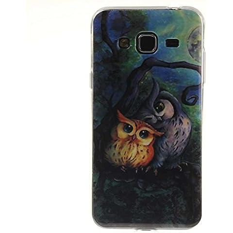 Samsung Galaxy A3 (2016) Cover AOFad(TM) Magro Disegno Blu TPU