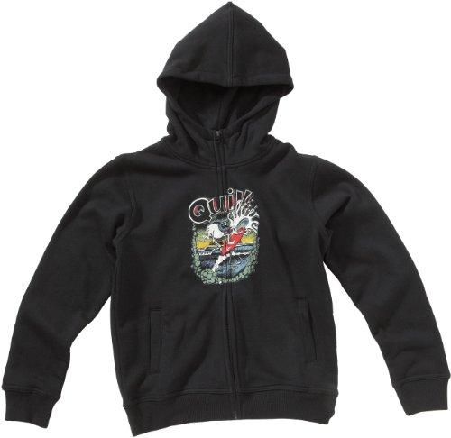 Quiksilver Kinder Hoodie Full Zip, black (S), 188, KKBSW952_S (Sweatshirt Quiksilver Full Zip)