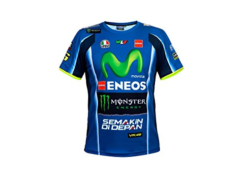 218 VR46 Valentino Rossi # 46 MotoGP Mens Team t-Shirt Tee Yamaha Factory Racing, Scarpette a Strappo Voltaic 3 Velcro Fade - Bambini, Mens (XS) 92cm/37 inch Chest