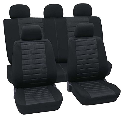Preisvergleich Produktbild Faszination 99870, Autositzbezug Schonbezug, Komplett Set, Schwarz