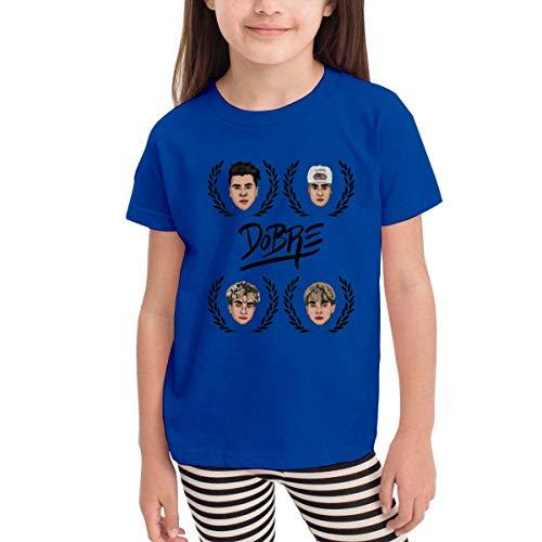 Solid-footed Sleeper Pajamas (Kinder Jungen Mädchen Shirts Dobre Brothers T Shirt Kurzarm T-Shirt Für Kleinkind Jungen Mädchen Baumwolle Sommer Blau 3 T)