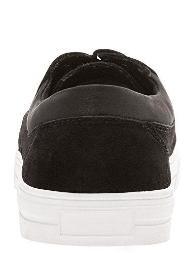 oodji Ultra Homme Chaussures en Suédine avec Empiècements en Cuir Synthétique Noir (2900N)