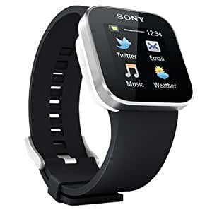 Sony SmartWatch Handy Uhr für Smartphone (Bluetooth 3.0, Android 2.1) LiveView Touch Generation 2 - Schwarz