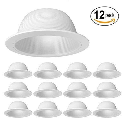 procuru 15,2cm weiß-Metall kann Einbauleuchte Trim-Für BR30/38/40, PAR30/38/40LED, Glühlampe, CFL, Halogen White (12-Pack) -