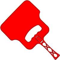 Barbacoa Ventilador Mano / Resistente Al Calor plástico barbacoa rejilla Llama AIRE Manija Soplador/Seguro Jardín Al Aire Libre Carbón Bandejas Caol MANUAL ENCENDEDOR - Rojo
