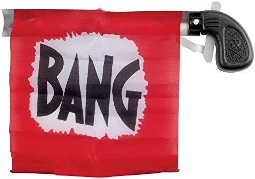 Loftus Star Power Starter 4Bang Gun Flagge Pistole, rot/schwarz/weiß, 12,7cm (Bang Gun Kostüm)