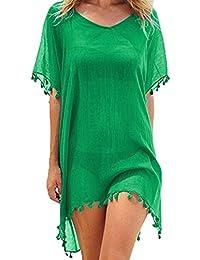 6969448a0b Womens Chiffon Beachwear Tassel Beach Dress Bikini Swim Bathing Suit Cover  Up