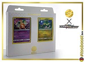 Pantimos (Mr.Mine) 66/181 & Alola-Kokowei (Noadkoko Alola) 115/181 Tooboost X Sonne & Mond 9 Teams Sind Trumpf - Caja de 10 Cartas Pokémon alemanas + 1 Goodie Pokémon