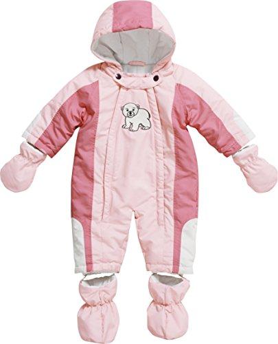 Playshoes Unisex - Baby Schneeanzug, Schneeoverall Eisbär, Gr. 80, Rosa