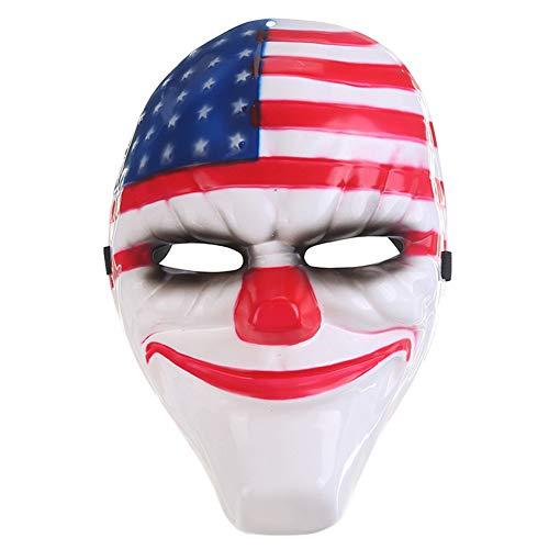 Lanking Halloween Maske, Zahltag 2 Thema Horror Cosplay Party Für Fechten Streik Kostüm Requisiten Maske Dekoration ()