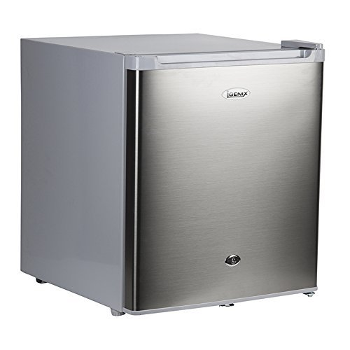 Igenix IG6751 Counter Top Freezer with Lock, 35 Litre, (44cm)Stainless Steel
