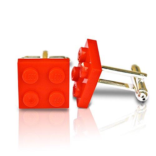 SJP Cufflinks LEGO® placa Gemelos rojo boda