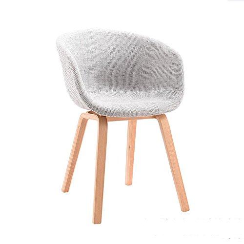 YIXINY Chaise Créatif Chaise À Manger Fauteuil Chaises De Bureau Pieds En Bois Massif Tissu Coussin ( Couleur : Gris )