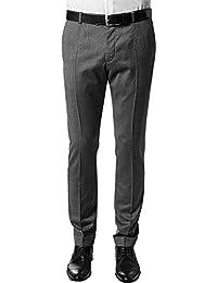 Strellson Premium Herren Hose Schurwolle Freizeithose unifarben, Größe: 98, Farbe: grau