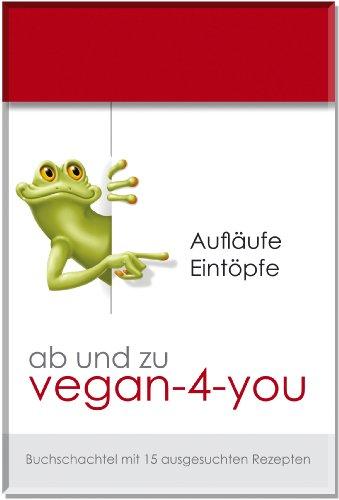 """ab und zu vegan-4-you: Buchschachtel mit 15 Rezeptkarten \""""Aufläufe und Eintöpfe\"""""""