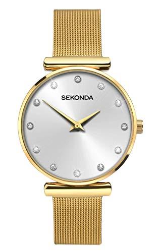 Sekonda Watches Orologio Analogico Quarzo Donna con Cinturino in Acciaio Inox 2492.27