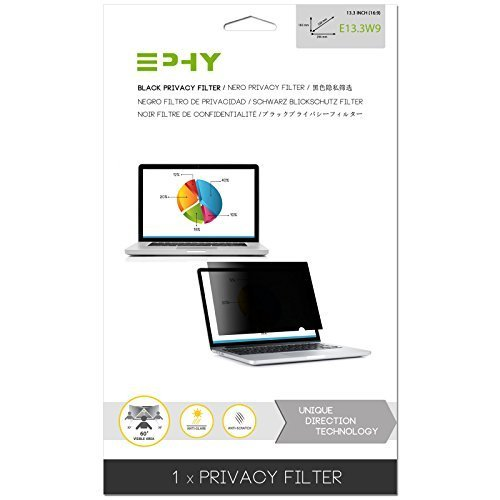 EPHY Privacy Filter / Anti-Glare / Screen Protector for Laptop TFT Monitor Desktop PC LCD LED Screen - Compatible with Apple iMac Macbook DELL SAMSUNG ACER V7 3M IBM LENOVO HP COMPAQ AOC ACER ASUS SHARP LG NEC (13.3