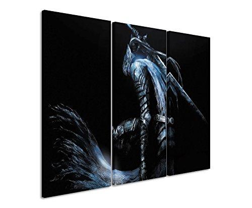 Leinwandbild-3-teilig-DarkSouls3x90x40cm-Gesamt-120x90cm-Ausfhrung-schner-Kunstdruck-auf-echter-Leinwand-als-Wandbild-auf-Keilrahmen