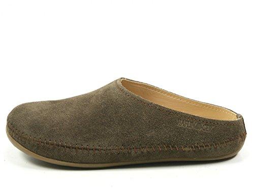 Haflinger 488023-0 Everest Softino Damen Hausschuhe Pantoffeln Beige Braun Grün, Schuhgröße:39;Farbe:Braun (Haflinger Leder-schuhe)