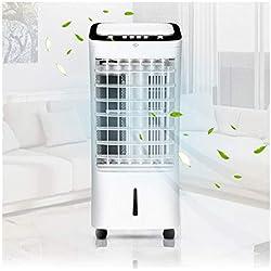 Solike Climatiseur Portable, Refroidisseur d'air 4 en 1 Ventilateur de Climatisation Silencieux Mobile Mini Personnel Air Refroidisseur Humidificateur (60 * 32 * 29CM, Noir)