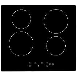 Plaque de cuisson en Vitrocéramique 6000W Encastrable Table de cuisson Vitrocéramique 4 foyers en verre Table de cuisson Capteur Contrôles Tactiles Plaque vitrocéramique 4 feux cuisson