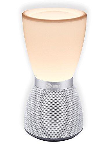 Svance Altavoz Inalámbrico Regulable Multicolores Lámpara de Mesa, Altavoces Bluetooth - Compatible con Tarjeta TF - Llamadas con Manos Libres