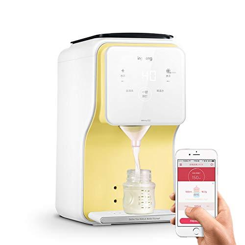 SLONG Babymilch Pulvermischer Lebensmittelisolierung Intelligente Automatische 24-Stunden-Konstanttemperatur Handy One-Touch-APP,Yellow