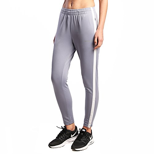 Ogeenier Damen Jogginghose Jogger Sweatpants Track Pants Soccer Training Workout Hose mit Taschen, Damen, 02-Gray, Large -