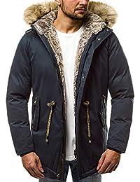 OZONEE Herren Winterjacke Parka Parkajacke Jacke Kapuzenjacke Wärmejacke Wintermantel  Coat AK-Club YL005 f8537c6e1d