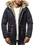 OZONEE Herren Winterjacke Parka Parkajacke Jacke Kapuzenjacke Wärmejacke Wintermantel Coat Wärmemantel Warm Modern Camouflage Täglichen 777/306K DUNKELBLAU M