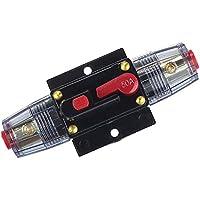 Almencla 20/30/40 / 60A 12V DC Sistema Solar Interruptor A Prueba De Agua Restablecer Fusible Inversor - 50a