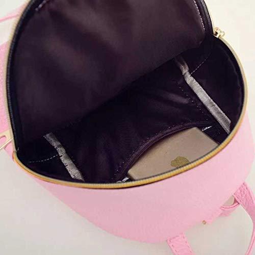 Best mini backpacks for girls in India 2020 JSPM® PU Leather Mini Backpack School Bag Student Backpack Women Travel bag Tuition Bag Backpack (Pink SP-0342) Image 4