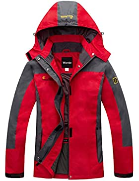 Wantdo Mujer Impermeable Chaqueta con Capucha