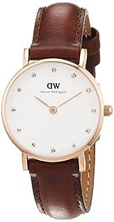 Daniel Wellington - 0900DW - Classy St Mawes - Montre Femme - Quartz Analogique - Cadran Blanc- Bracelet Cuir Marron (B00D195O3K)   Amazon Products