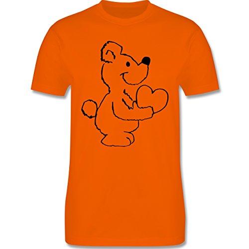Romantisch - Herzbär - Herren Premium T-Shirt Orange