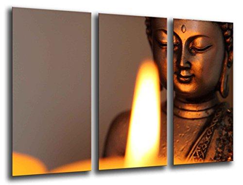 Cuadro Moderno fotografico base madera, 97 x 62 cm, Buda Buddha, Relajacion, Relax, Zen ref. 26204