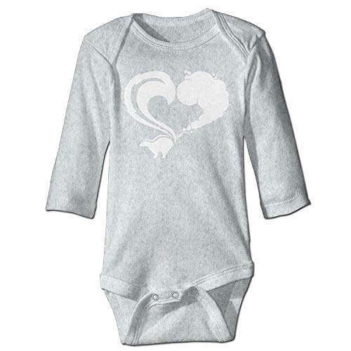 Unisex Infant Bodysuits Skunk Logo Boys Babysuit Long Sleeve Jumpsuit Sunsuit Outfit Ash